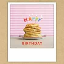 ansichtkaart instagram pickmotion - happy birthday - pannenkoekjes
