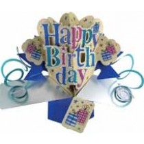 3D verjaardagskaart - pop ups - happy birthday