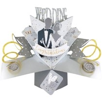 3D trouwkaart - pop ups - wedding congratulations - bruidspaar