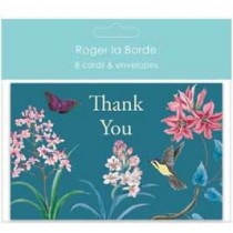 set van 8 wenskaarten - roger la borde - thank you