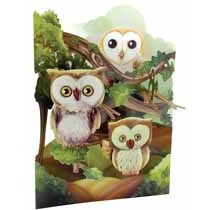 3D kaart - swing cards - uilen