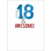 18 jaar - verjaardagskaart - you re 18 & awesome!