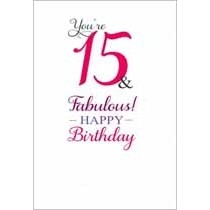 15 jaar - verjaardagskaart - you re 15 & fabulous! happy birthday