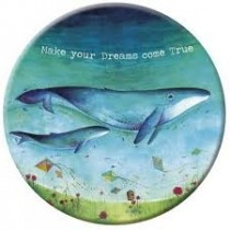 make up spiegeltje met fluwelen hoesje - make your dreams come true