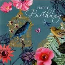 verjaardagskaart tropicana - happy birthday - vogels