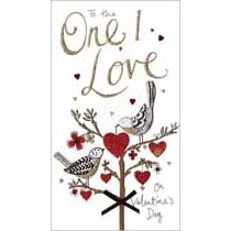 grote luxe valentijnskaart - to the one I love on valentines day - vogels