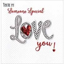 luxe valentijnskaart - you are my someone special love you