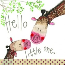 geboortekaart alex clark - hello little one - giraffe