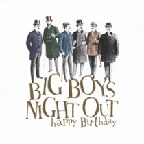 verjaardagskaart woodmansterne - big boys night out happy birthday