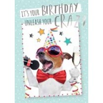 verjaardagskaart - it is your birthday unleash your crazy