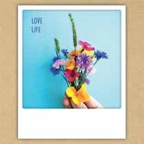 ansichtkaart instagram pickmotion - love life - bloemen