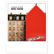 ansichtkaart instagram - congrats on your new home - nieuwe woning