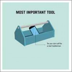 woodmansterne truth facts - most important tool - gereedschapskist met mobiel