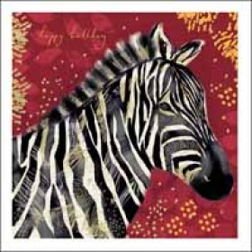 verjaardagskaart woodmansterne opium - happy birthday - zebra