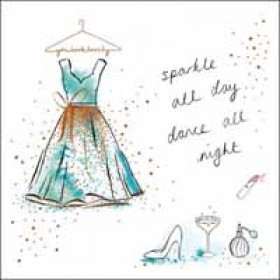 verjaardagskaart woodmansterne pink -  sparkle all day, dance all night