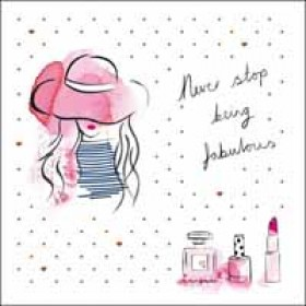 verjaardagskaart woodmansterne pink -  never stop being fabulous