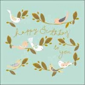 verjaardagskaart woodmansterne - happy birthday to you - vogels
