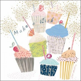 woodmansterne pink - make a wish - cupcakejes