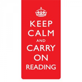 Magnetische boekenlegger: Keep calm and carry on reading
