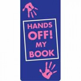 magnetische boekenlegger: hands off! my book
