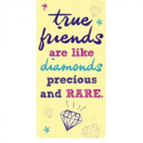 magnetische boekenlegger - true friends are like diamonds