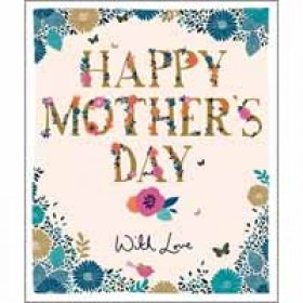 grote moederdagkaart woodmansterne - happy mother's day with love