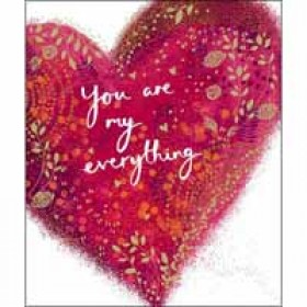 grote valentijnskaart woodmansterne - you are my everything - hart