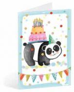 kinderkaart busquets - panda met taart