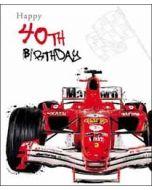 40 jaar grote verjaardagskaart - happy 40th birthday - race auto
