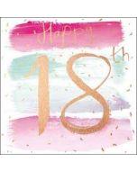 18 jaar verjaardagskaart - happy 18th