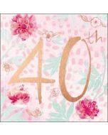 40 jaar verjaardagskaart - happy 40th