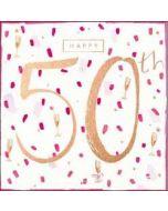 50 jaar verjaardagskaart - happy 50th