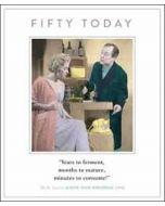 50 jaar grote verjaardagskaart - fifty today