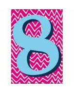 8 jaar - verjaardagskaart woodmansterne - roze blauw