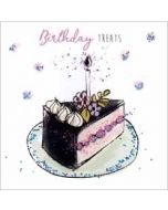 verjaardagskaart sparkle dust - birthday treats