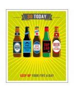 30 jaar - grote verjaardagskaart - 30 today - keep up your five a day