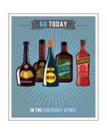 60 jaar - grote verjaardagskaart - 60 today - in the birthday spirit