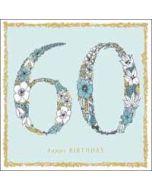 60 jaar - verjaardagskaart woodmansterne - happy birthday