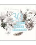 30 jaar jubileum - wenskaart van woodmansterne - 30 happy years together pearl anniversary
