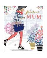grote moederdagkaart woodmansterne - fabulous mum