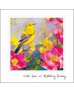 moederdagkaart woodmansterne esprit - with love on mothering sunday - vogel