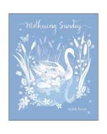 grote moederdagkaart woodmansterne - mothering sunday with love - zwaan