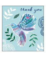 bedankkaart woodmansterne - thank you - kolibri