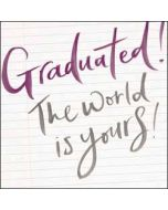 geslaagd kaart - graduated! the world is yours!