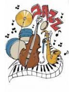 wenskaart mouse & pen - jazz