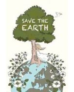 wenskaart mouse & pen - save the earth - red de aarde