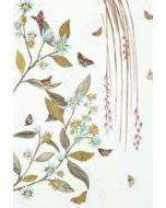 wenskaart - takken met bloemen blauw
