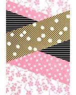 wenskaart - vlakken roze