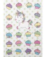 wenskaart - eenhoorn met cupcakes