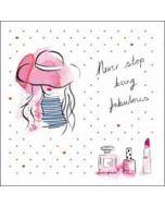 verjaardagskaart woodmansterne pink -  never stop being fabulous